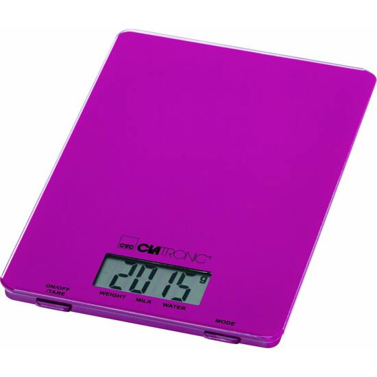 Clatronic KW3626 digitális konyhai mérleg - LILA, 5kg-ig