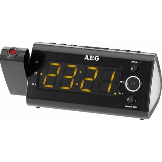 AEG MRC4121 projektoros rádió, 11 cm-es LED kijelző, 10 tárhely