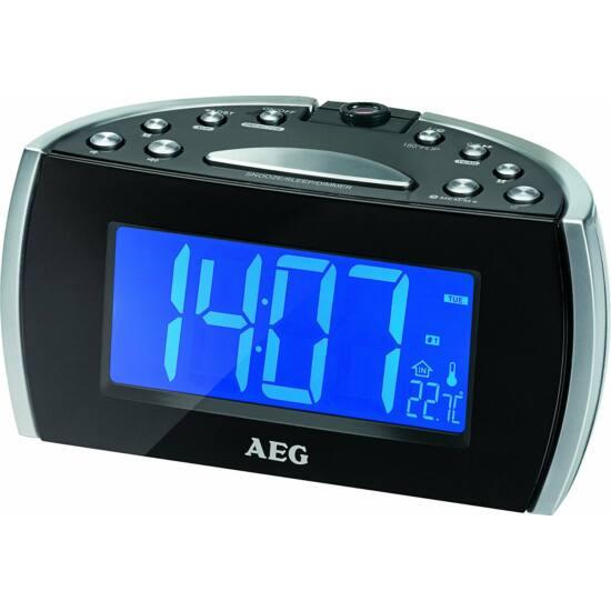 AEG MRC4119 projektoros rádió FEKETE, 12 cm-es LCD kijelző