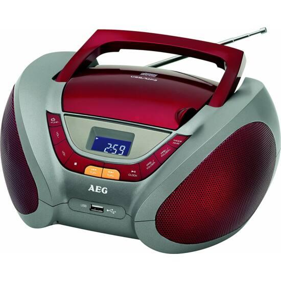 AEG SR4358 CD/MP3 rádió PIROS, audió bemenet