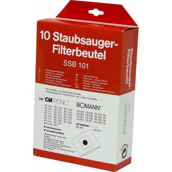 Clatronic porzsák SSB101 10db, porszűrővel