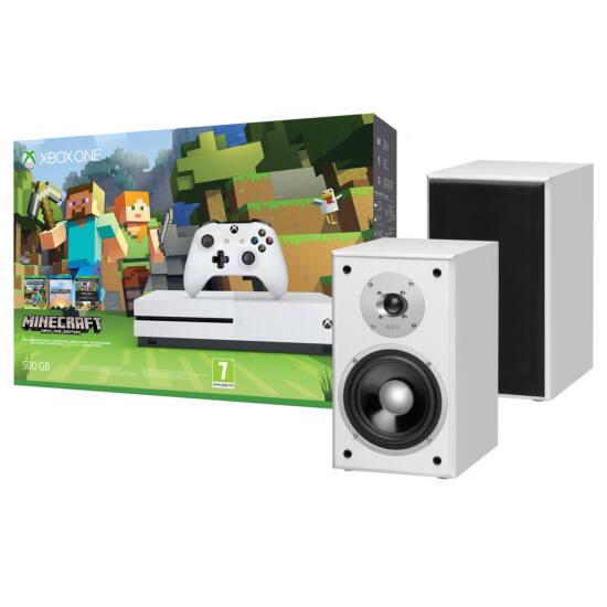 Microsoft XBOX One S 500Gb Minecraft - AEG LB4720 hangfalpárral