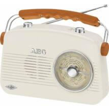 AEG NR4155 hordozható retro rádió, aux-in, hálózati vagy akkumulátoros működés