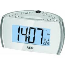 AEG MRC4119 projektoros rádió FEHÉR, 12 cm-es LCD kijelző