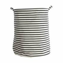 Laundry Bag Stripes (ls0120) Fekete szennyes kosár