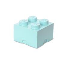 LEGO Storeage Brick 4 - Világoskék (40031742) tároló blokk