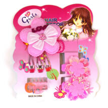 Hajszett virágos rózsaszín