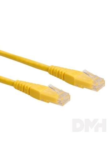 PRC UTP CAT5E 1m sárga patch kábel