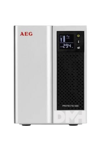 AEG Protect B 1000VA 8xIEC VI szünetmentes tápegység C13-SCH adapterrel