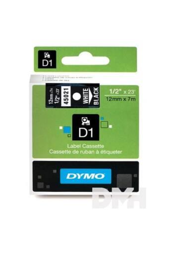 Dymo D1 12mmx7m fekete/fehér feliratozógép szalag