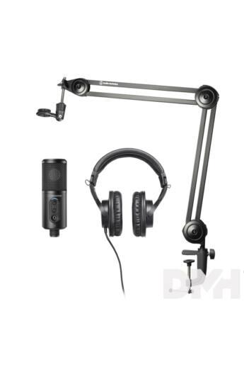 Audio-Technica Creator Pack Podcast mikrofon + fejhallgató + állvány csomag