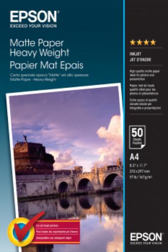 Epson Matte Heavyweight papír | 167g | A4 | 50 lap