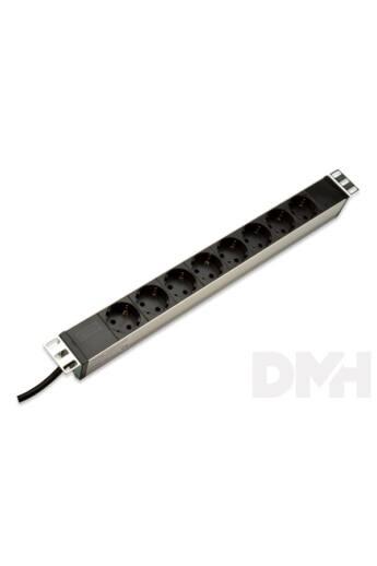 DIGITUS 1U rack alumínium 8 dugaljas hálózati elosztó