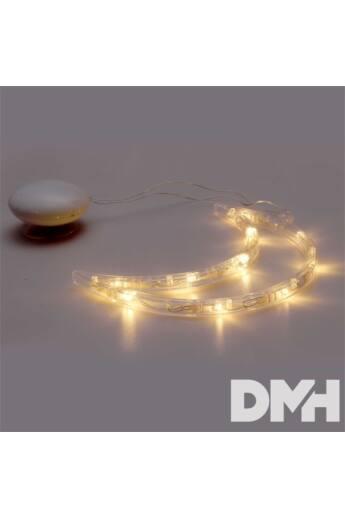 Hold alakú 15x19cm/meleg fehér LED-es tapadókorongos fénydekoráció