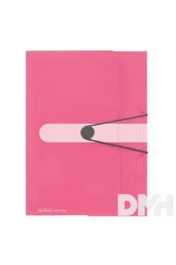 Herlitz Color Blocking A4 PP indonesia pink gumis mappa