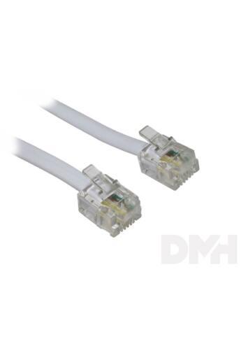 Somogyi USE T 5-5WH/X 5m 6P4C d-d fehér telefon vezeték