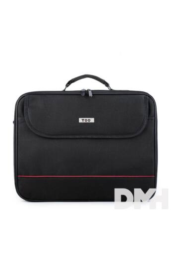 """TOO 15,6"""" fekete notebook táska piros dekor csíkkal"""
