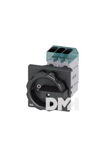 Siemens 3LD3454-0TK51 22kW panelre szerelhető fekete kar főkapcsoló