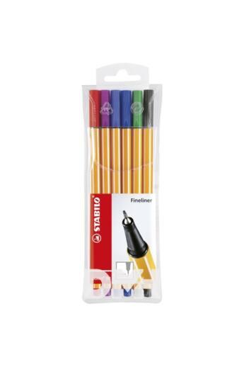 Stabilo Point 88/6 6db-os vegyes színű tűfilc készlet