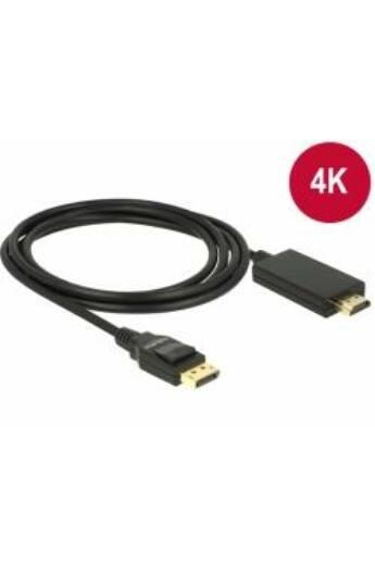 Delock Kábel Displayport 1.2 dugó -High Speed HDMI-A dugó passzív 4K, 5m; fekete