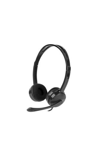 Natec HEADSET CANARY WITH MICROPHONE BLACK