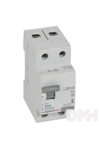 Legrand 402037 RX3 40A A 30mA 2 pólusú áram-védőkapcsoló