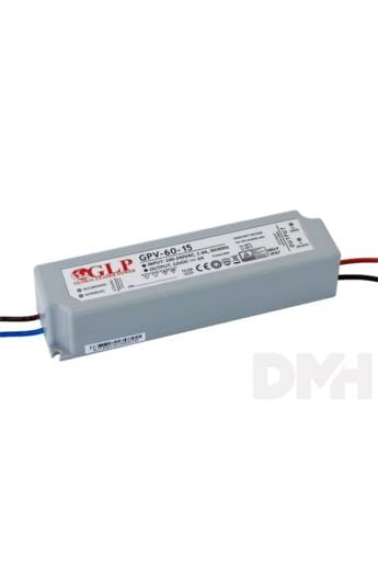 GLP GPV-60-15 60W 15V 4A IP67 LED tápegység