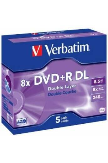 Verbatim DVD+R DL [ jewel case 5   8.5GB   8x   matt ezüst ]
