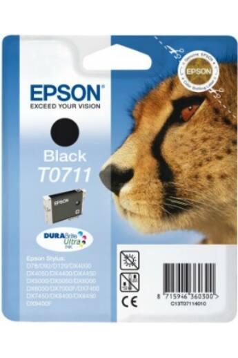 Epson T0711fekete DURABrite tintapatron|StylusD78/92/120/DX4000/4050/4400/4450/5