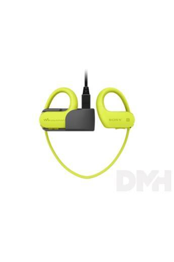 Sony NWWS623G Bluetooth lime-zöld sport fülhallgató headset és 4GB MP3 lejátszó