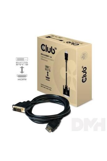 CLUB3D DVI - HDMI 1.4 2m kétirányú kábel