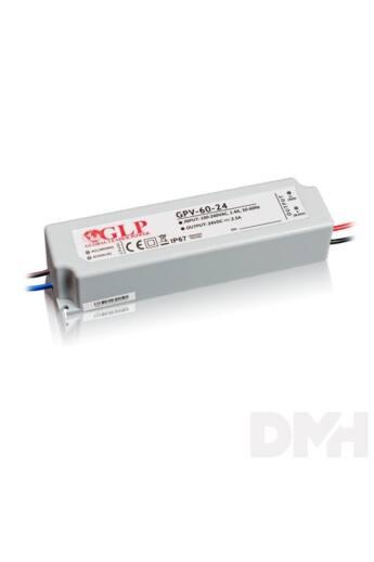 GLP GPV-60-24 60W 24V 2.5A IP67 LED tápegység