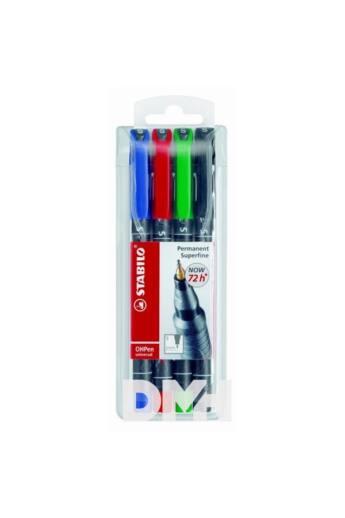 Stabilo OHPen 841 4db-os vegyes színű permanent marker készlet