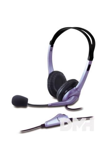 Genius HS-04S jack fekete mikrofonos PC fejhallgató headset