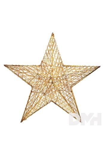 Csillag alakú 52cm/arany színű festett fém dekoráció