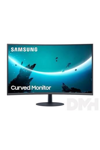 """Samsung 23,6"""" C24T550FDU LED HDMI Display port ívelt kijelzős kékes sötétszürke monitor"""