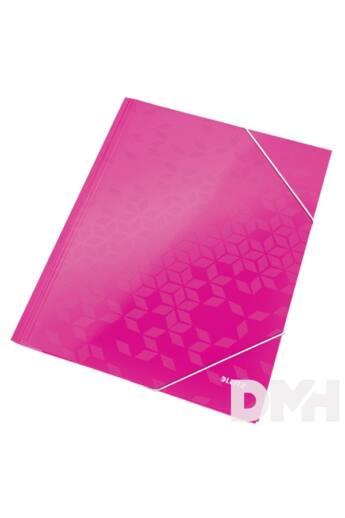 Leitz Wow A4 karton rózsaszín gumis mappa