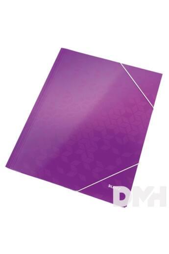 Leitz Wow A4 karton lila gumis mappa