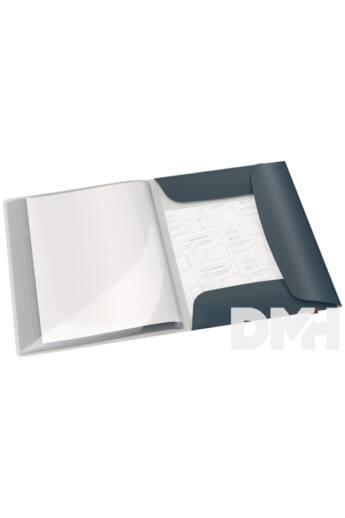 Leitz COSY PP bársony szürke pólyás iratvédő mappa
