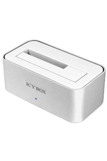 IcyBox 2,5'' és 3,5'' merevlemez dokkoló, SATA 1x USB 3.0, alumínium