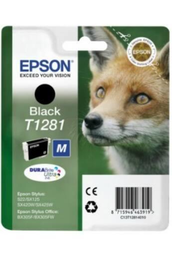 Epson T1281 fekete tintapatron | Stylus S22/SX125/SX425W/BX305F