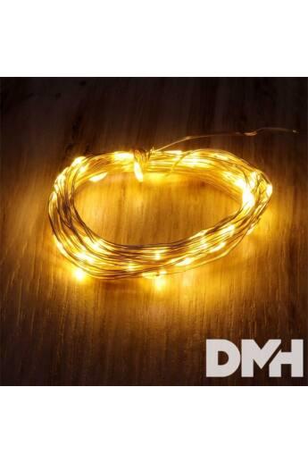 Fix fényű 5m/meleg fehér/50db LED-es fénydekoráció