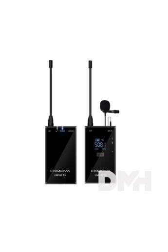 CKMOVA UM100 Kit1 ultrakompakt UHF két csatornás vezeték nélküli mikrofon rendszer