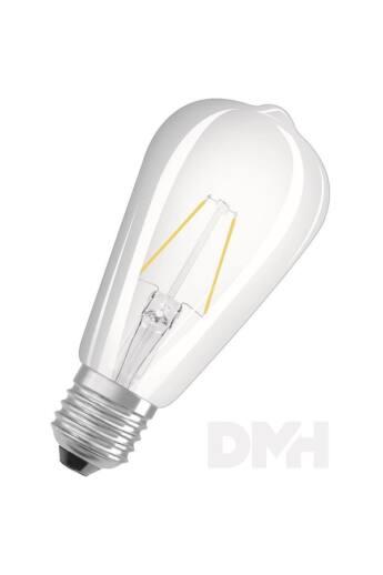 Osram Star átlátszó üveg búra/2,5W/250lm/2700K/E27 LED Edison körte izzó