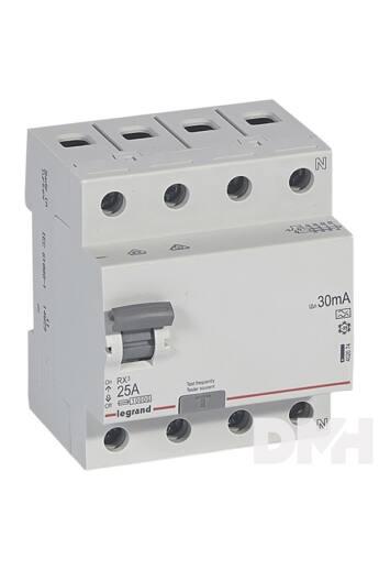 Legrand 402074 RX3 25A A 30mA 4 pólusú áram-védőkapcsoló