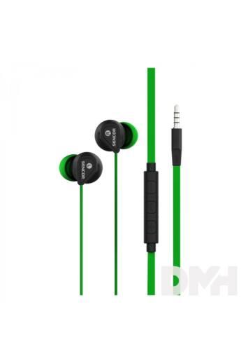 Sencor SEP 172 zöld mikrofonos fülhallgató
