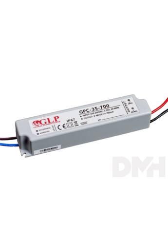 GLP GPCP-35-700 33.6W 24~48V 700mA IP67 LED tápegység