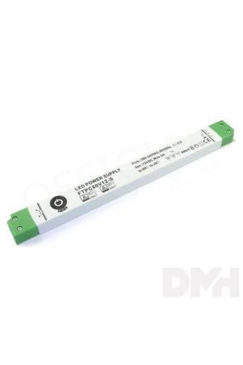 POS POWER FTPC60V12-S 12V/5A 60W IP20 vékony LED tápegység