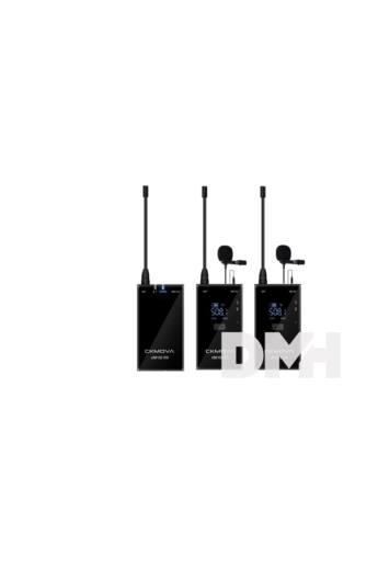 CKMOVA UM100 Kit2 ultrakompakt UHF két csatornás 2 db adó egységgel vezeték nélküli mikrofon rendszer