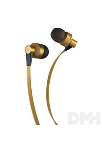 Sencor SEP 300 GOLD arany mikrofonos fülhallgató